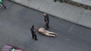 Christian Falero al momento dell'arresto