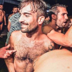 Marco Prato ad una festa