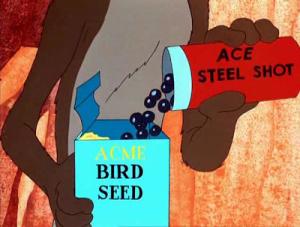 Wile E. Coyote mette pallini d'acciaio nei semi per Beep Beep
