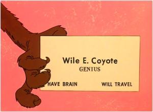 Il biglietto da visita di Wile E. Coyote